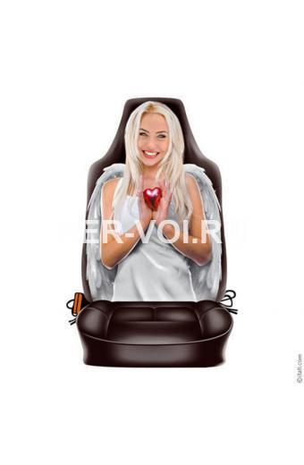 """Чехол автомобильный с прикольным изображением """"ITATI"""" Артикул: Леди ангел"""