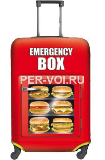 """Чехол для чемодана S, M """"ITATI"""" Артикул: Бургеры"""