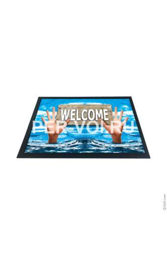 """Оригинальный придверный коврик 40х60 с 3D эффектом """"ITATI"""" Артикул: Добро пожаловать 2"""