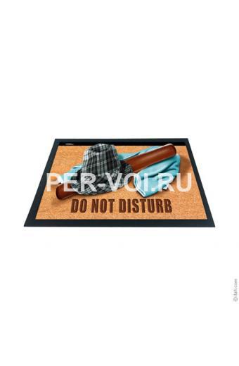 """Оригинальный придверный коврик 40х60 с 3D эффектом """"ITATI"""" Артикул: Не беспокоить"""