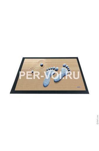 """Оригинальный придверный коврик 40х60 с 3D эффектом """"ITATI"""" Артикул: Следы"""