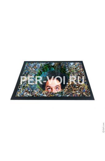 """Оригинальный придверный коврик 40х60 с 3D эффектом """"ITATI"""" Артикул: Водоворот"""