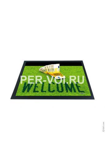 """Оригинальный придверный коврик 40х60 с 3D эффектом """"ITATI"""" Артикул: Добро пожаловать"""