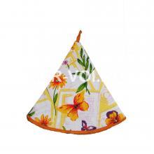 "Круглое кухонное полотенце диаметр 70 ""GRAND TEXTIL"" Артикул: Колоре цветы"