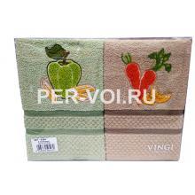 """Комплект из двух кухонных полотенец 50х70 """"VINGI RICAMI"""" Артикул: Алба 1"""
