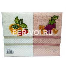 """Комплект из двух кухонных полотенец 50х70 """"VINGI RICAMI"""" Артикул: Алба 2"""