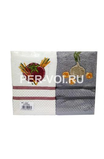 """Комплект из двух кухонных полотенец 50х70 """"VINGI RICAMI"""" Артикул: Алба 3"""