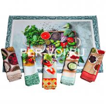 "Комплект из шести кухонных полотенец 50х70 ""VINGI RICAMI"" Артикул: Тиффани 2"