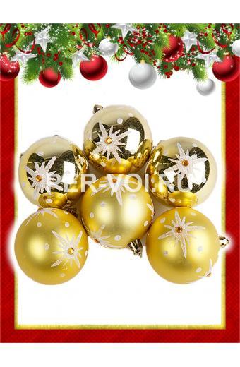 Набор пластиковых ёлочных шаров Артикул: 68031