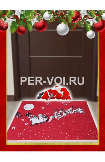 "Новогодний придверный коврик 50х70 ""ONDA BLU"" Артикул: Натиле"