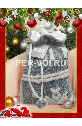 """Новогодний плед с оленями 130х160 """"GF FERRARI"""" Артикул: Грессоней"""