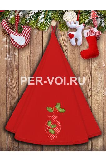 "Круглое новогоднее махровое полотенце диаметр 70 ""VINGI RICAMI"" Артикул: Жирелла 24"