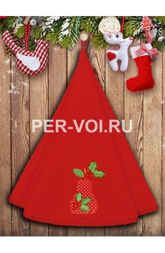 "Круглое новогоднее махровое полотенце диаметр 70 ""VINGI RICAMI"" Артикул: Жирелла 28"