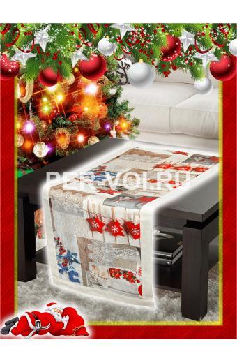 "Салфетка новогодняя гобелен с люрексом 40х120 ""VINGI RICAMI"" Артикул: Шарон 12"