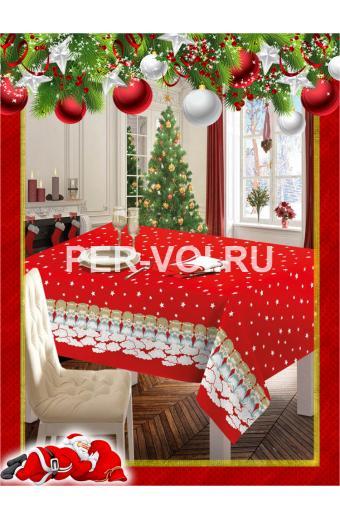 """Новогодняя скатерть на стол 140х180 """"ONDA BLU"""" Артикул: Ангелы"""