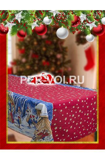 """Скатерть новогодняя 140х180; 140х210; 140х240 """"ONDA BLU"""" Артикул: Рождество"""