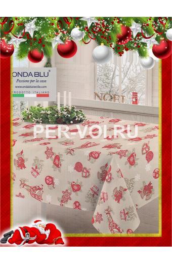 """Новогодняя скатерть 140х180 """"ONDA BLU"""" Артикул: Слит"""