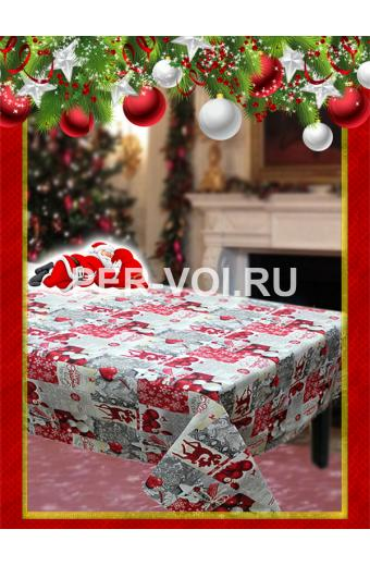 "Новогодняя скатерть в пакете 140х180; 140х240 ""VALLEPIANO"" Артикул: Север № 6"