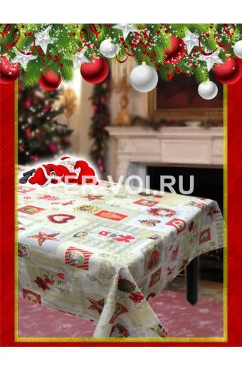 """Новогодняя скатерть в пакете 140х180 """"VALLEPIANO"""" Артикул: Сочельник № 8"""