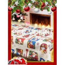 "Новогодняя скатерть в пакете 140х220 ""VALLEPIANO"" Артикул: Санта Клаус"