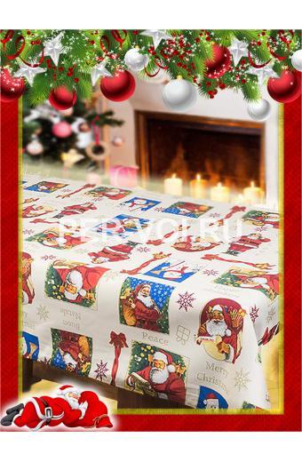 "Новогодняя скатерть в пакете 140х180 ""VALLEPIANO"" Артикул: Санта Клаус"