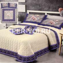 """Тонкое одеяло-покрывало на двуспальную кровать 260х270 """"GF FERRARI"""" Артикул: Голд 9"""