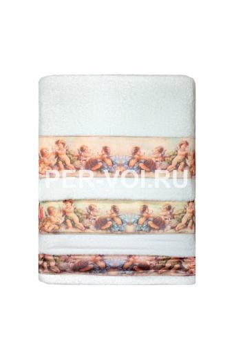 """Комплект из трёх махровых полотенец с ангелочками """"Grand Texti"""" Артикул: Рай"""