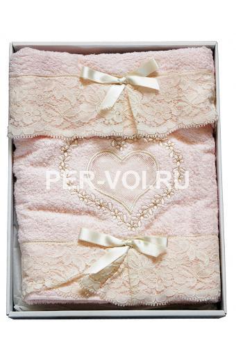 """Махровые полотенца в наборе 2 штуки """"SERVALLI"""" Артикул: Куорэ"""