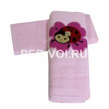 """Детское махровое полотенце в наборе 2 штуки """"MELANGIO"""" Артикул: Дисней (Божья коровка)"""