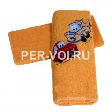 """Детское махровое полотенце в наборе 2 штуки """"MELANGIO"""" Артикул: Дисней (Тачки)"""