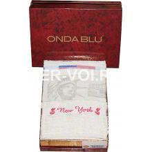 """Комплект из двух махровых полотенец """"Onda Blu"""" Артикул: Нью Йорк"""