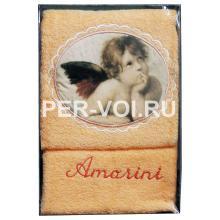 """Комплект из двух махровых полотенец """"SERVALLI"""" Артикул: Ангел"""