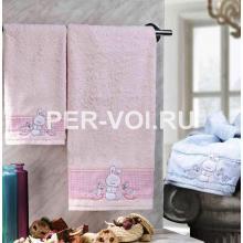 """Детское махровое полотенце в наборе 2 штуки """"VINGI RICAMI"""" Артикул: Флиппер зайчик"""