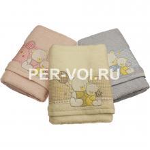 """Детское махровое полотенце в наборе 2 штуки """"VINGI RICAMI"""" Артикул: Флиппер мишка"""