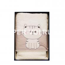 """Детское махровое полотенце в наборе 2 штуки """"VINGI RICAMI"""" Артикул: Китти"""