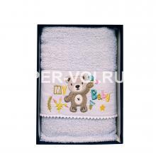 """Детское махровое полотенце в наборе 2 штуки """"VINGI RICAMI"""" Артикул: Орсетто"""