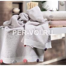"Махровые полотенца в наборе 2 штуки ""VINGI RICAMI"" Артикул: Пеония"