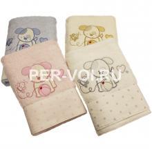 """Детское махровое полотенце в наборе 2 штуки """"VINGI RICAMI"""" Артикул: Полли собачка"""