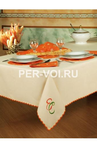 "Скатерть на стол с салфетками 150х190 ""ENRICO COVERI"" Артикул: Капуа"