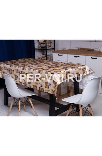 """Скатерть на стол для кухни 140х180 """"GRAND TEXTIL"""" Артикул: Каффе"""