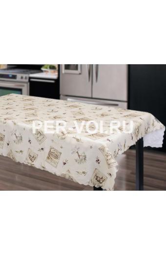 """Скатерть на стол для кухни 140х180 """"GRAND TEXTIL"""" Артикул: Оливе-3"""
