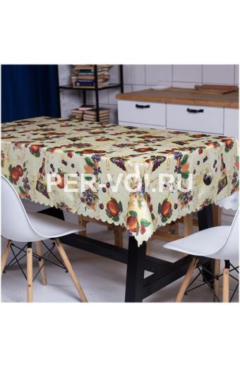 """Скатерть на стол для кухни 140х180 """"GRAND TEXTIL"""" Артикул: Эппл"""