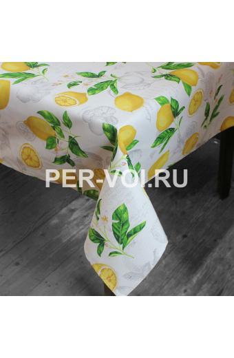 """Скатерть с водоотталкивающей пропиткой 140х180 """"MELANGIO"""" Артикул: Венере (лимоны)"""