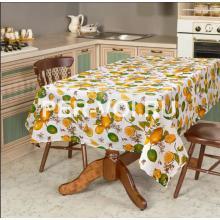 """Скатерть на стол 140х180 """"ONDA BLU"""" Артикул: Стампато (лимоны)"""