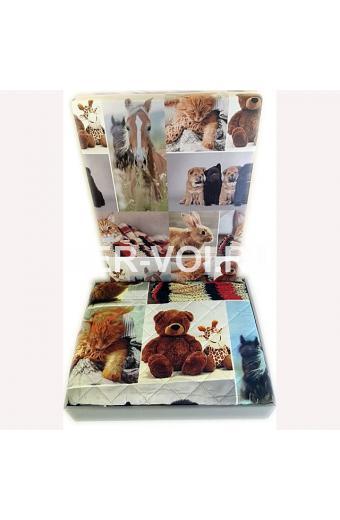 """Покрывало на кровать с изображением животных 250х250 """"SERVALLI"""" Артикул: Диджитал"""